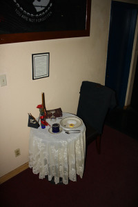 VFW Post 1760 - POW/MIA table