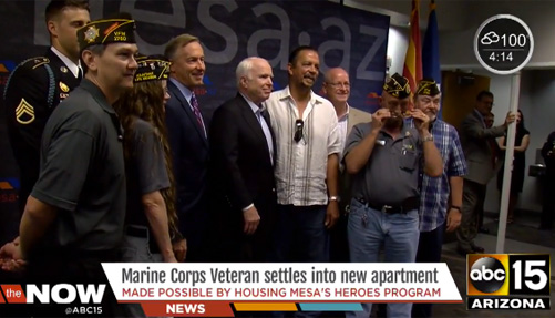 Mesa Marine Corps veteran Larry Hutchison gets new home